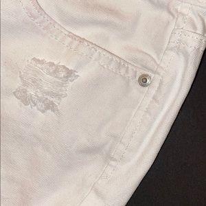 THE LOFT white jean Capri shorts - semi destructed